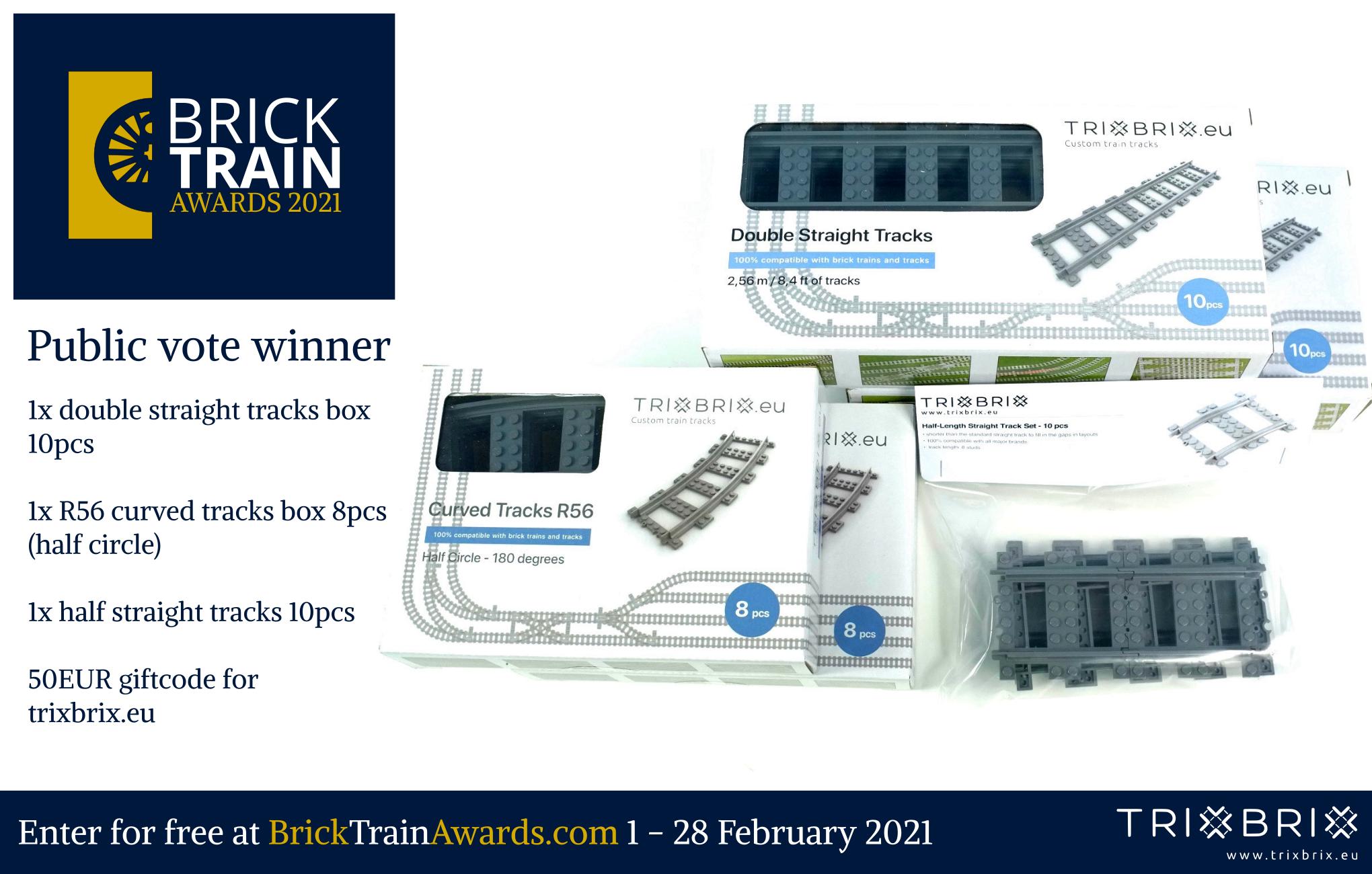 Brick Train Awards public vote - prizes 2021
